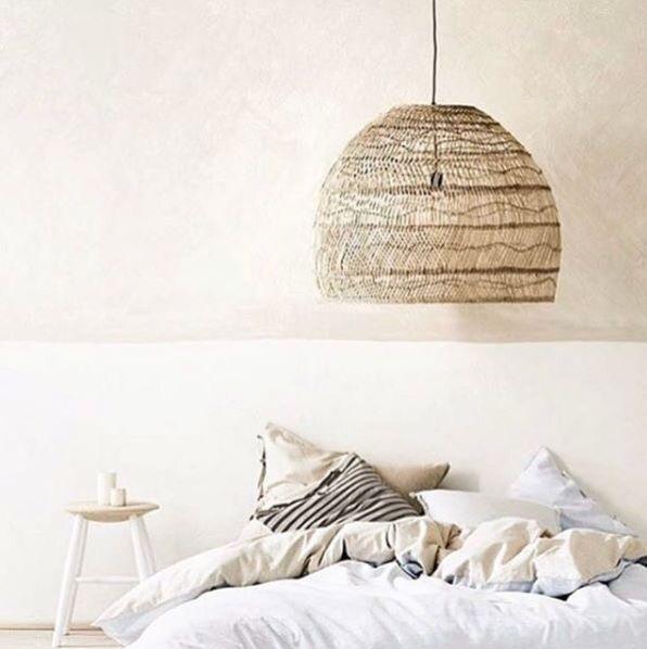 HK Living Lámpara de mimbre - Ø60xh50cm - HK Living