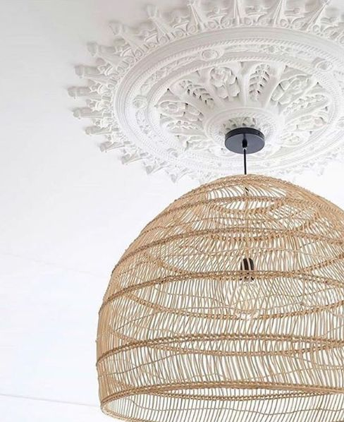 HK Living Wicker pendant lamp - Ø80cm - HK Living