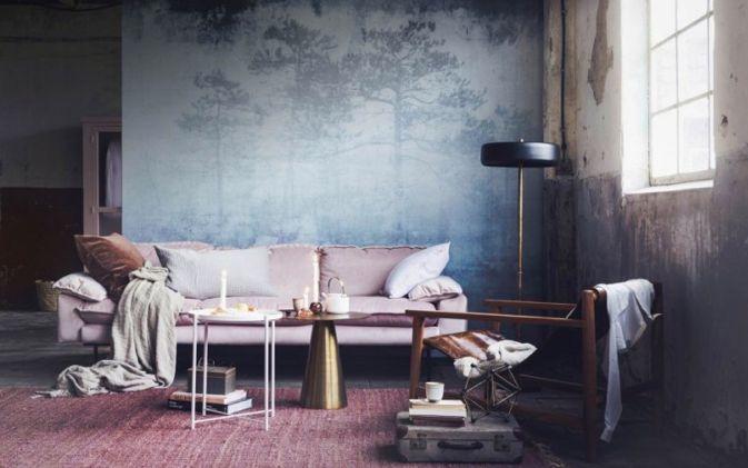 HK Living Sofá retro de terciopelo - 3 plazas - 225x83x95cm - HK Living