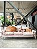 HK Living Canapé retro en velours - poudre rose - 225x83x95cm - HK Living