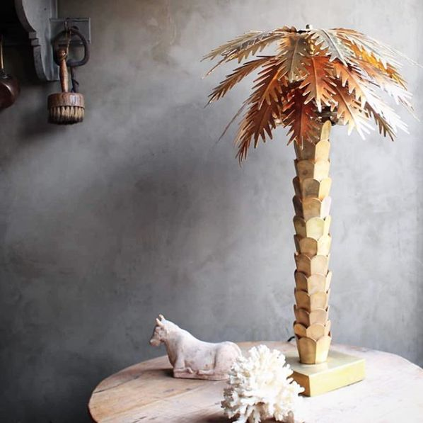 HK Living Table lamp Palm Tree Brass - Ø45x68cm - HK Living