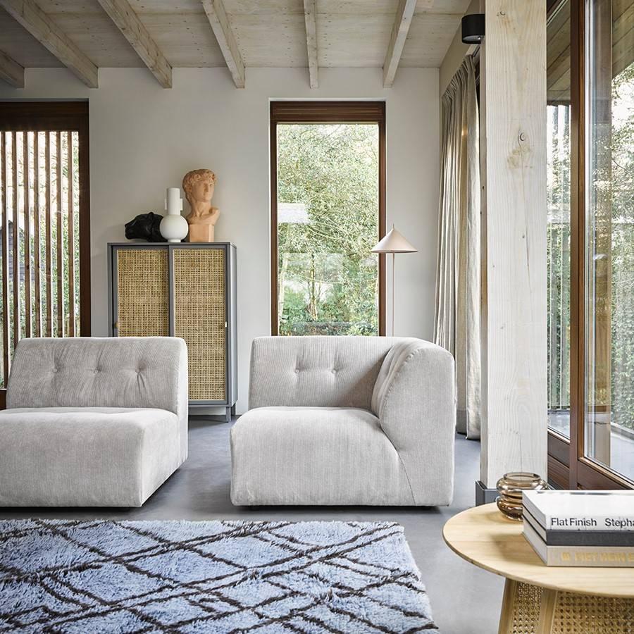 HK Living Mesa de Centro tejido de malla abierta - Ø80xh30cm - HK Living