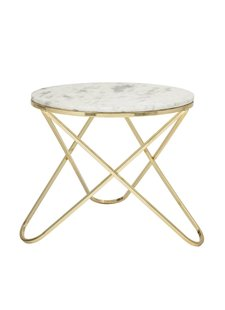 Bloomingville Round coffee table - Marble & Brass - Ø57xh50cm - Bloomingville