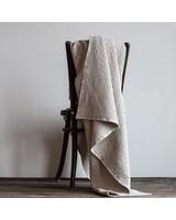 Tell me more Couverture MIRO en coton gaufré - Beige/Sable - 140x200cm - Tell Me More
