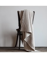 Tell me more Manta en algodón gofrado - Beige/arena - 140x200cm - Tell Me More