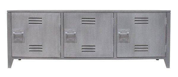 HK Living Scandinavian / Industrial TV cabinet in wood - gray - HK Living