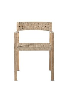 Dareels Dinning Chair CORA in teak et robe - Natural  - Dareels