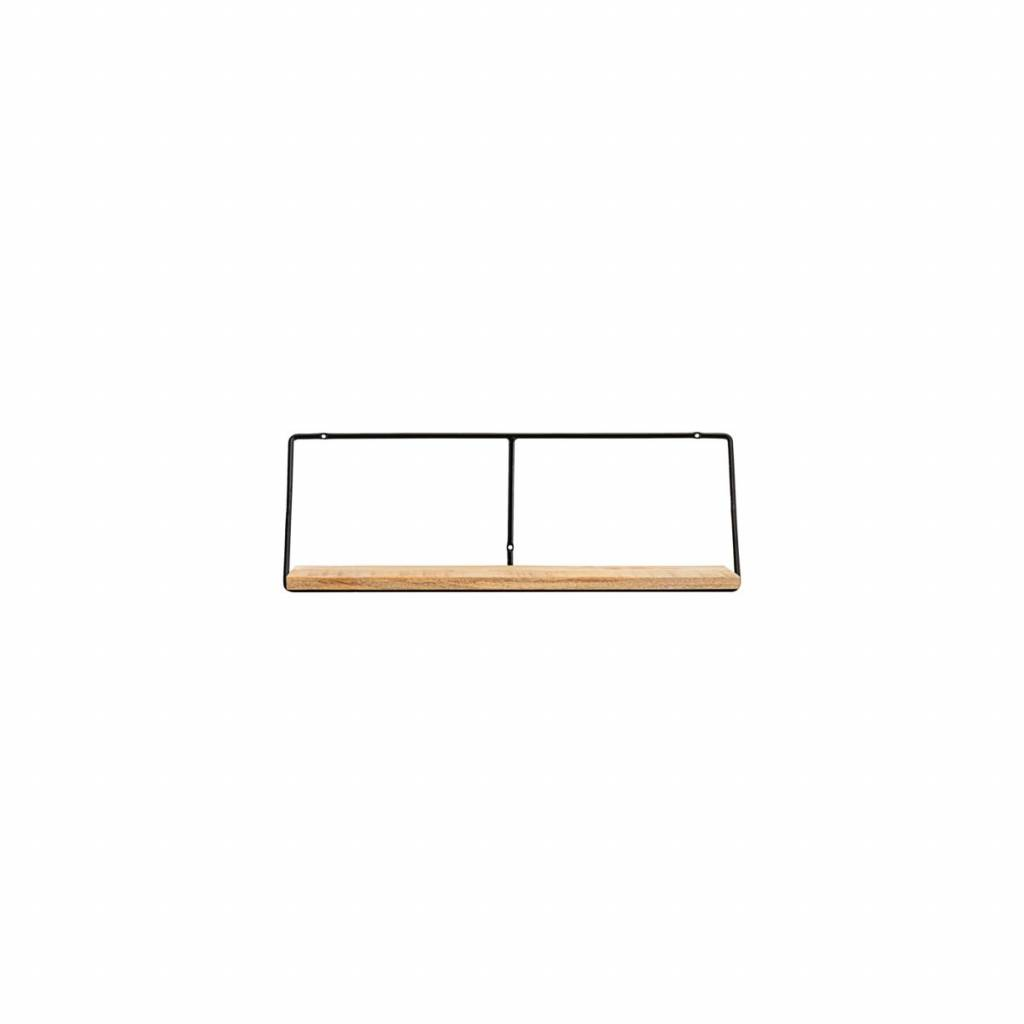House Doctor Shelving industrial - Black / Natural - 24x70xH24,4cm - House Doctor