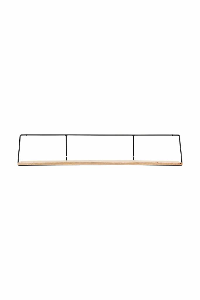 House Doctor Shelving industrial - Black / Natural - 24x130xH24,4cm - House Doctor