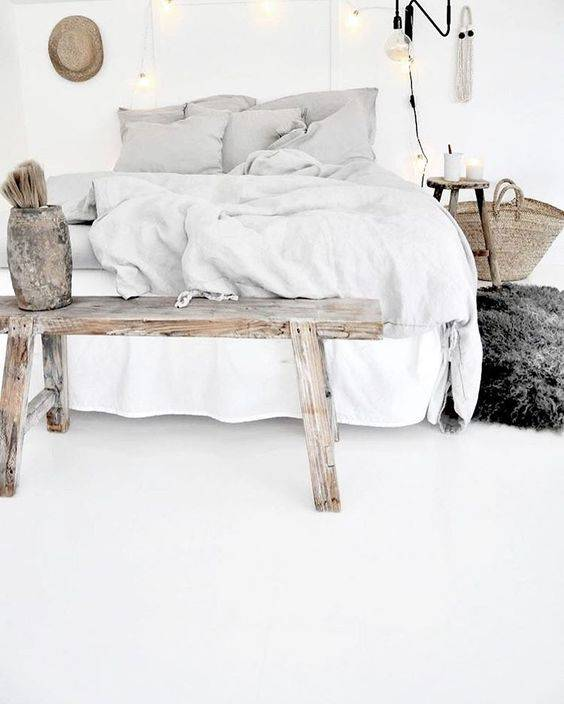 A bedroom style that is white and bright! spotted at Pinterest