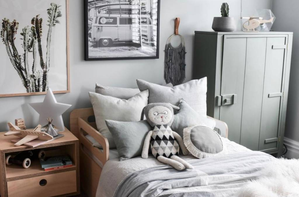 HK Living White cabinet Mango wood - h122cm - HK Living
