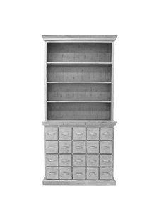 HK Living Bibliothèque avec 20 tiroirs - gris antique - 45x113xh230cm - HK Living