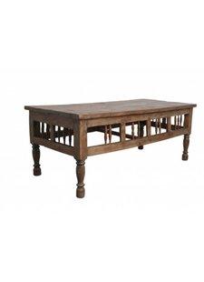 Petite Lily Interiors Table basse en teck - 65x80xh66cm - Pièce unique