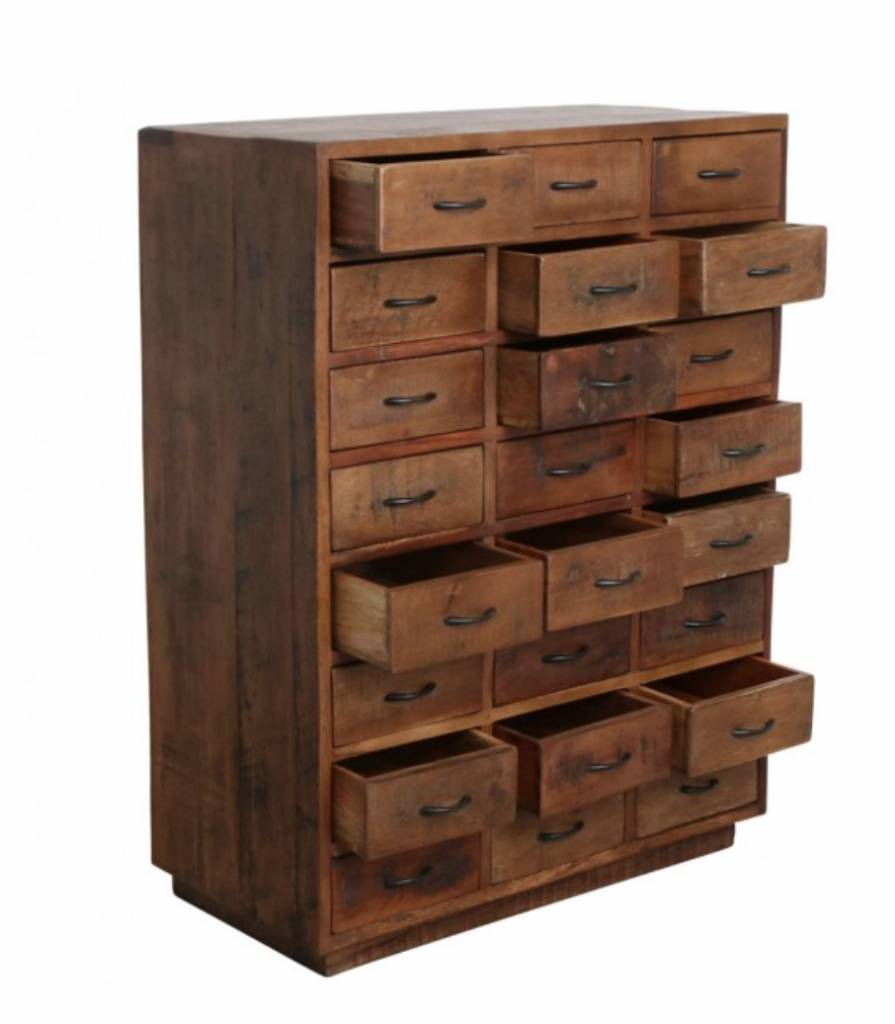 Petite Lily Interiors Factory cabinet 24-drawer - 80x40xH106 - Unique Piece