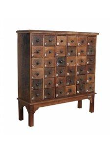Petite Lily Interiors Meuble de métier d'atelier bois - 36 tiroirs - 105x32x110cm