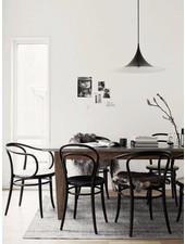 Nordal 2 chaises bistro en bois - noir - Ø40xh90cm - Nordal
