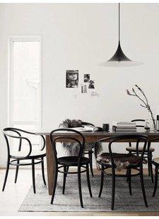 Nordal Conjunto 2 sillas de bistro de madera -  negro - Ø40xh90cm - Nordal