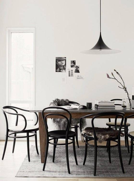 Nordal 2 bistro chairs - wood - black - Ø40xh90cm - Nordal