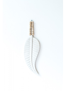 MaduMadu Wall hanging ceramic Feather - 31x12cm - MaduMadu