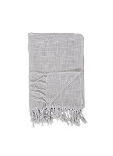 Bloomingville Plaid 100% algodón - gris - 130x170cm - Bloomingville