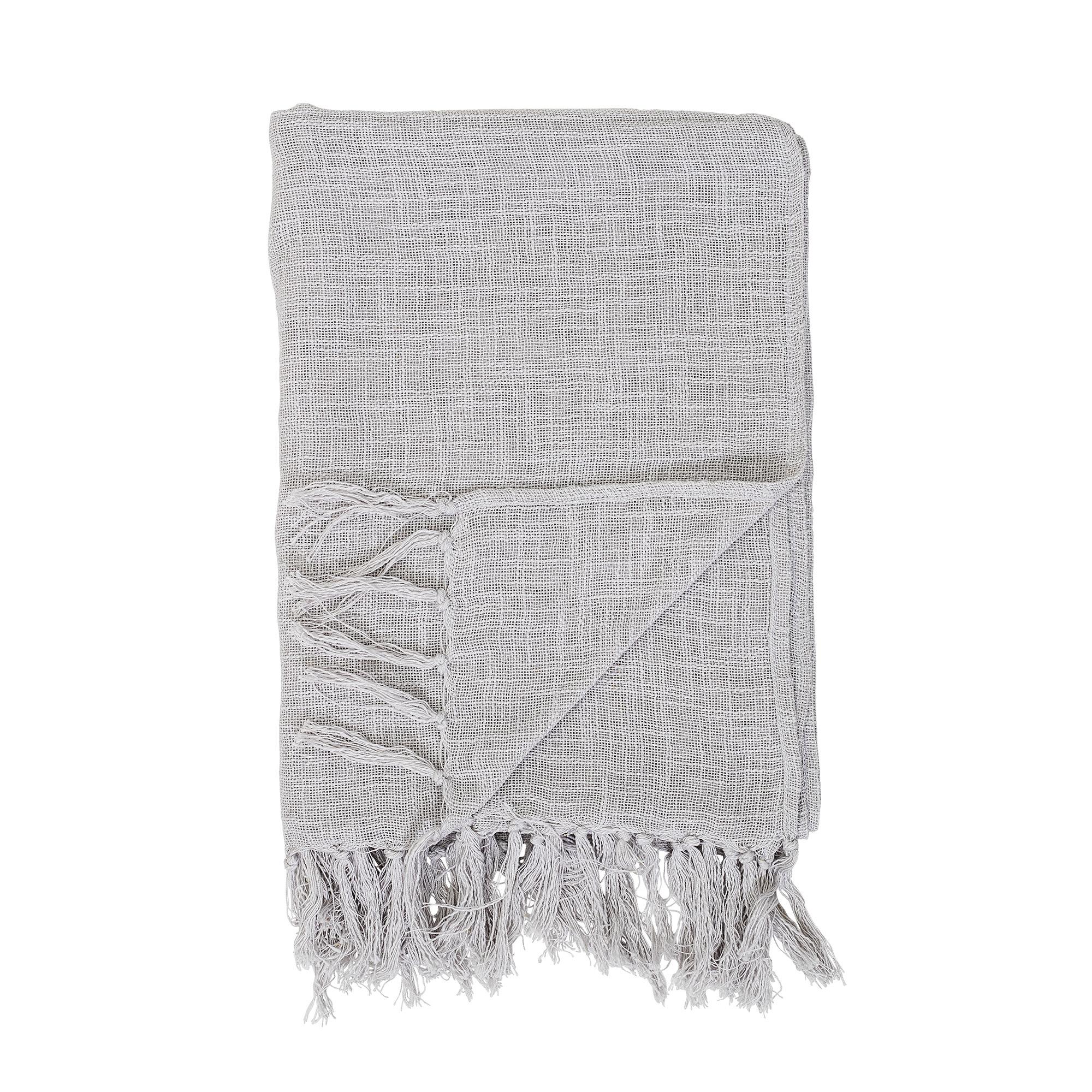 Bloomingville Plaid 100% cotton - grey - 130x170cm - Bloomingville
