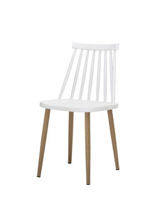 Bloomingville Bajo Chair, White, Plastic - L42xH80xW42cm - Bloomingville