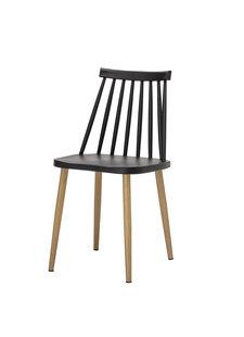 Bloomingville Chaise de jardin Plastique - noir - L42xH80xW42cm - Bloomingville