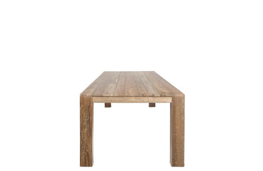 Dareels Mesa de comedor - teca natural - 250x90xa76cm - Dareels