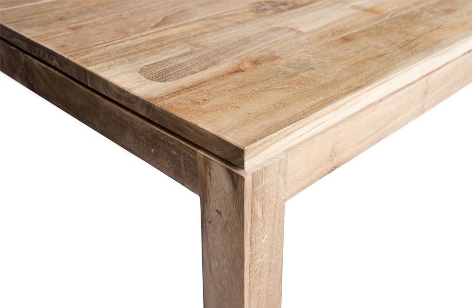 Dareels Table de salle à manger - teck naturel - 250x90xh76cm - Dareels