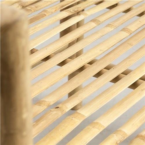 Lene Bjerre Design Bamboo bench white black mattress - Outdoor - 165x50cm - Lene Bjerre