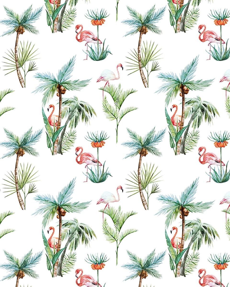 Wall Paper - Flamingo Palm - 203x303cm - Prize per m2: € 27,00