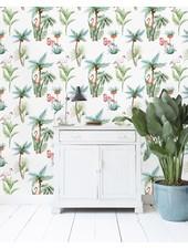 Creative Lab Amsterdam  Wall Paper - Flamingo Palm - 203x303cm - Prize per m2: € 27,00