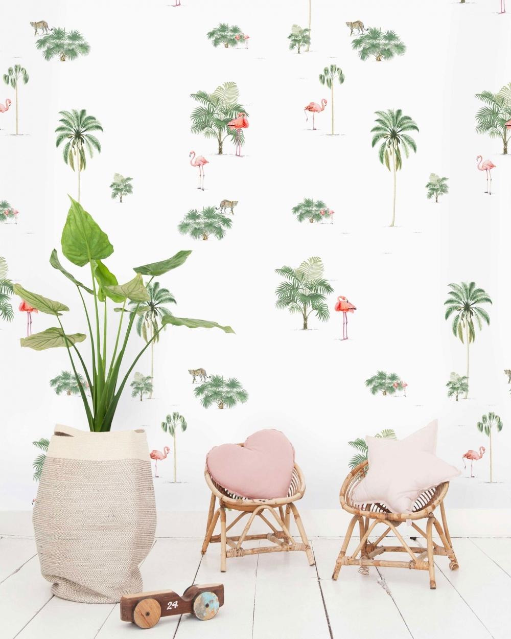 Papel Pintado  Flamingo & Tiger - 203x303cm - precio m2: 27,00 €