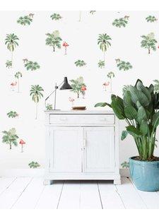 Creative Lab Amsterdam  Wall Paper Flamingo & Tiger - 203x303cm - Prize per m2: 27,00 €
