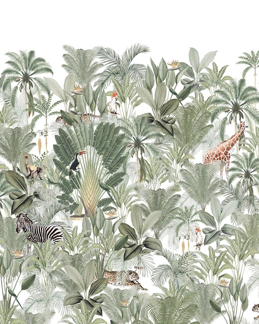 Papier Peint Into the Wild - 203x303cm Prix m2: 27,00 € - Petite Lily Interiors