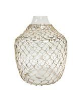 HK Living Vase en verre et osier - Ø30xh32,5cm - HK Living