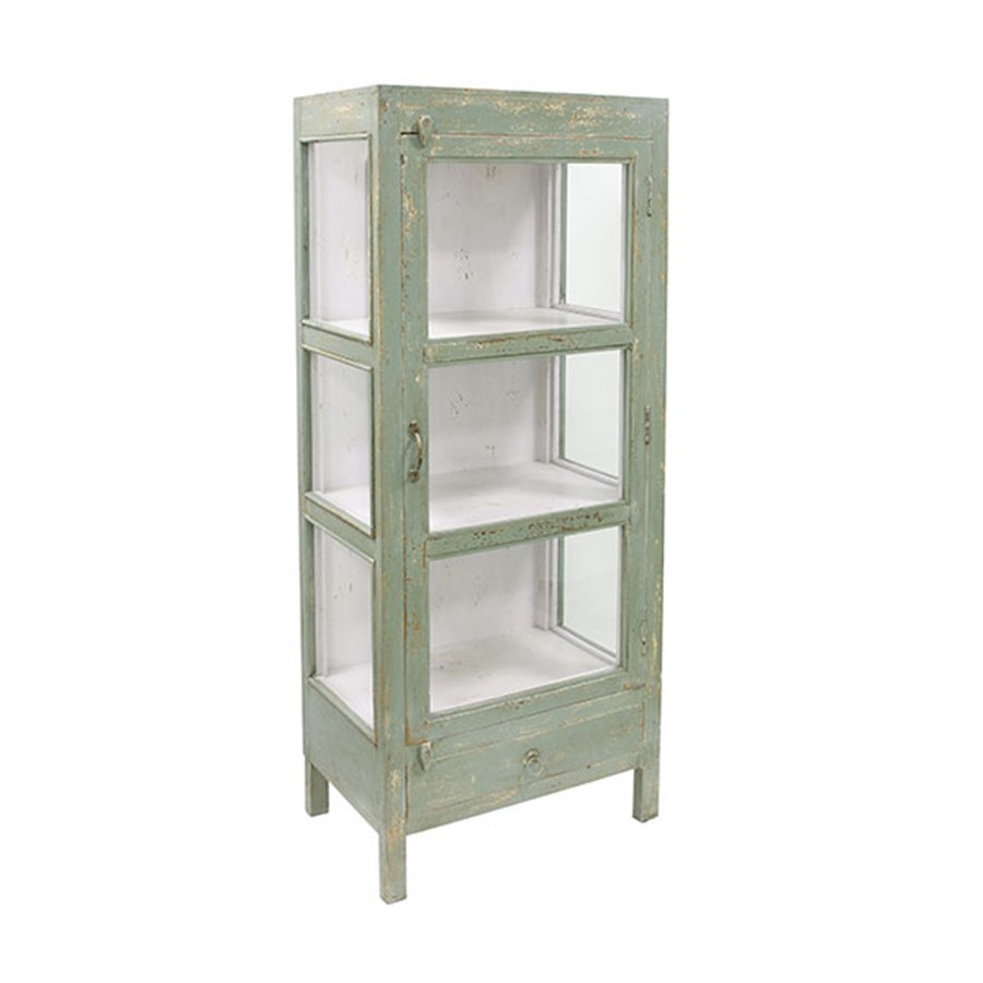 HK Living Small doctors cabinet green - 58x39xh140cm - HK Living