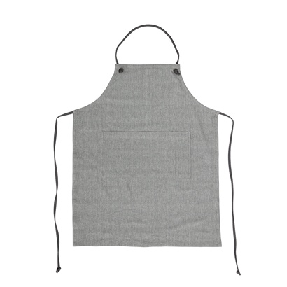 Bloomingville Tablier de cuisine - 100% coton - gris - Bloomingville