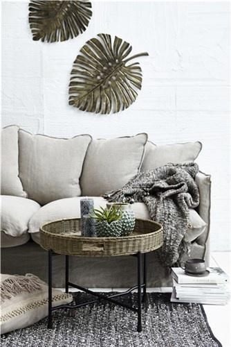 Lene Bjerre Design Canapé en lin - sable foncé - 210x95cm - Lene Bjerre Design