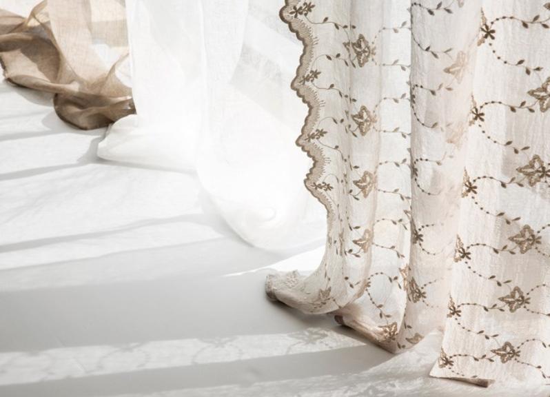 Lene Bjerre Design Linen curtain - off white - 250x140cm - Lene Bjerre Design