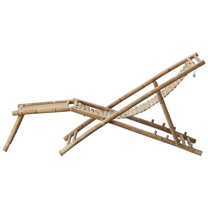 Lene Bjerre Design Tumbona de bambú plegable - L152xW59xH80cm - Lene Bjerre Design