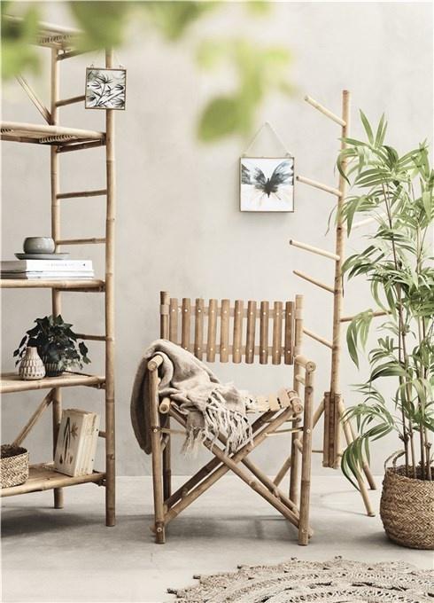 Lene Bjerre Design Mandisa bookcase - Bamboo - nature - L155xW40xH190 - Lene Bjerre Design