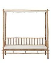 Lene Bjerre Design Bamboo sofa with white mattress - Outdoor - L210xW150xH220 - Lene Bjerre Design