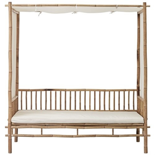 Lene Bjerre Design Bamboo sofa with white mattress - Outdoor - L210xW150xH220 - Lene Bjerre Design