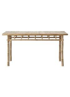 Lene Bjerre Design Table de jardin - bambou Naturel - 150x80x75cm - Natural Bamboo - Lene Bjerre