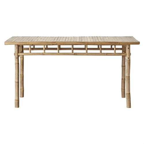 Lene Bjerre Design Table de jardin - bambou Naturel - 150x80x75cm - Natural Bamboo - Lene Bjerre