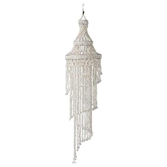 Lene Bjerre Design Colgante decorativo de conchas - Ø24x105cm - naturel - Lene Bjerre Design