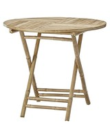 Lene Bjerre Design Table de aire libre - bambú - Naturel - Ø90xH75cm - Lene Bjerre Design