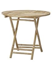 Lene Bjerre Design Table de jardin ronde - bambou - Naturel - Ø90xH75cm - Lene Bjerre Design