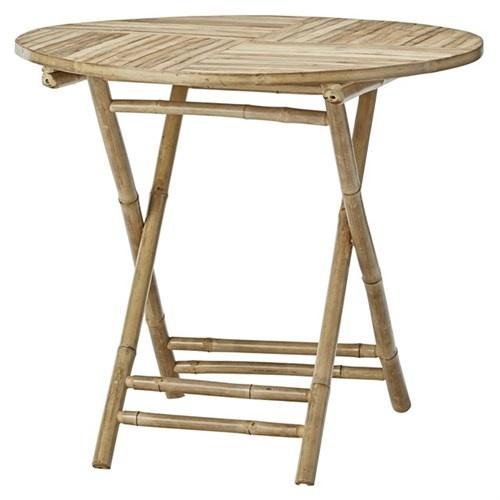 Table de jardin ronde - bambou - Naturel - Ø90xH75cm - Lene Bjerre Design